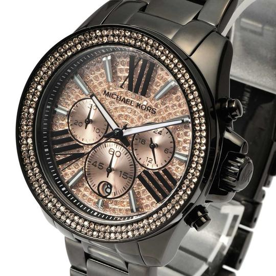 Michael Kors Wren Stainless Steel Champagne Pave Crystal Chronograph MK5879 Watch Image 7