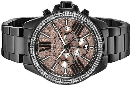Michael Kors Wren Stainless Steel Champagne Pave Crystal Chronograph MK5879 Watch Image 9
