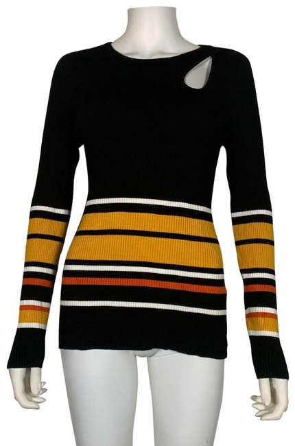 Item - Cutout Stripes M New Nw Multicolor Sweater