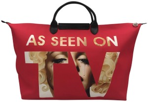 Longchamp Paris Limited Limited Edition Rare Collaboration Red Travel Bag