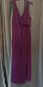 After Six Aubergine Stretch Crepe 6799 Casual Bridesmaid/Mob Dress Size 12 (L)