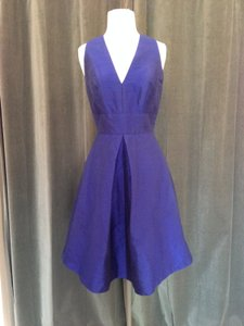 Alfred Sung Royal Blue Dupioni Silk D610 Retro Bridesmaid/Mob Dress Size 6 (S)