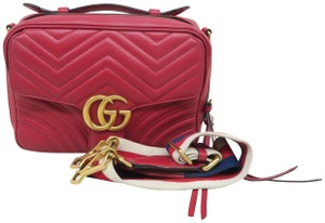 Gucci Lv Calfskin Marmont Top Handle Shoulder Bag