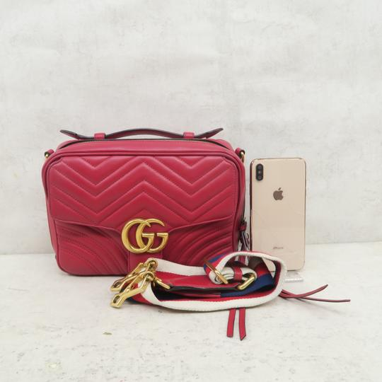 Gucci Lv Calfskin Marmont Top Handle Shoulder Bag Image 1