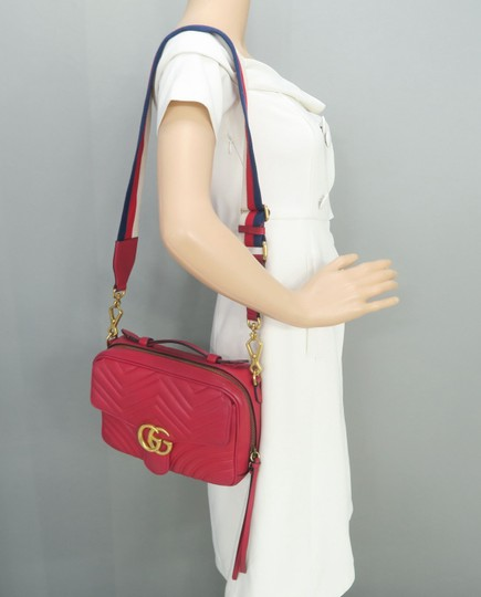 Gucci Lv Calfskin Marmont Top Handle Shoulder Bag Image 11