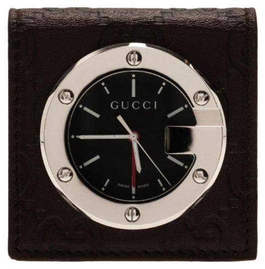 Preload https://img-static.tradesy.com/item/26283424/gucci-black-silver-stainless-steel-brow-leather-unisex-alarm-clock-40mm-watch-0-1-540-540.jpg