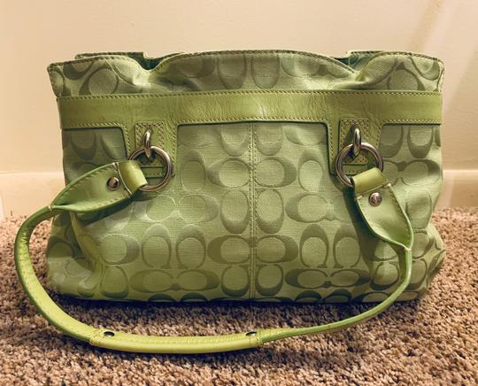 Coach Satchel in lime green Image 1