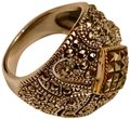 Thailand Marcasite Dome Ring in Sterling Silver/14K Gold Image 0