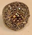 Thailand Marcasite Dome Ring in Sterling Silver/14K Gold Image 1