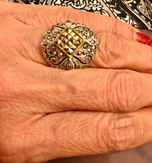 Thailand Marcasite Dome Ring in Sterling Silver/14K Gold Image 7
