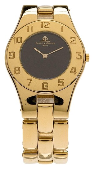 Preload https://img-static.tradesy.com/item/26283507/baume-and-mercier-black-gold-plated-stainless-steel-linea-women-s-wristwatch-30mm-watch-0-1-540-540.jpg