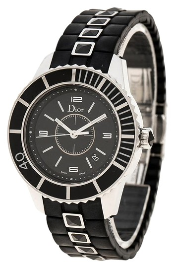 Preload https://img-static.tradesy.com/item/26283515/dior-black-stainless-steel-christal-women-s-wristwatch-33mm-watch-0-1-540-540.jpg