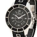 Dior Dior Black Stainless Steel Christal Women's Wristwatch 33MM Image 2