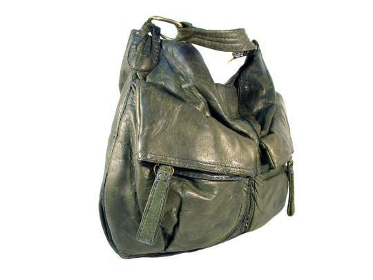 49 Square Miles Slouchy Italian Leather Hobo Bag Image 2