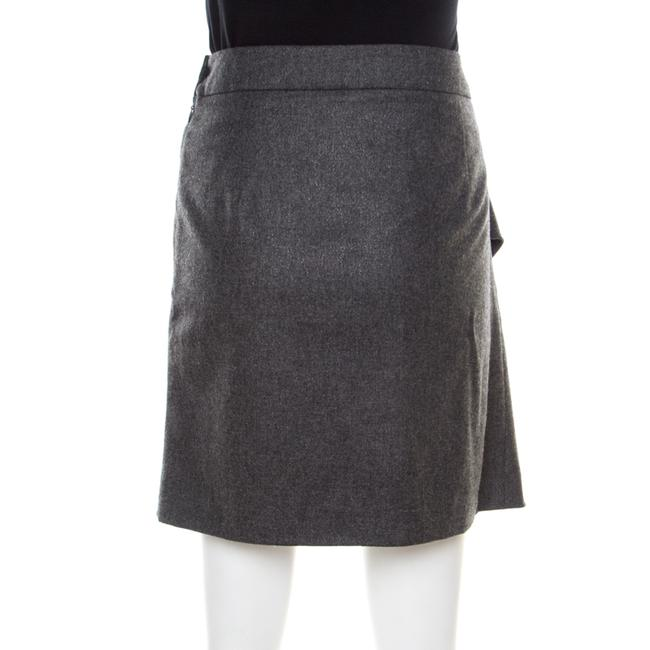 Emporio Armani Draped Knit Skirt Grey Image 1