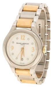 Baume & Mercier Yellow Gold Capped Stainless Steel Women's Wristwatch 30 mm