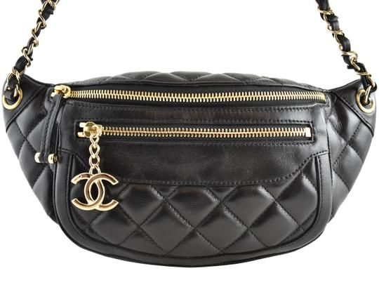 Chanel Shoulder Crossbody Classic Minaudiere Box black Messenger Bag Image 0