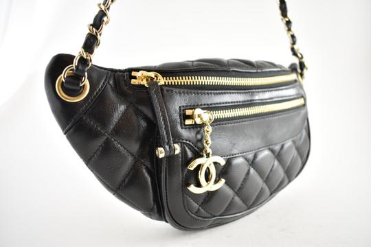 Chanel Shoulder Crossbody Classic Minaudiere Box black Messenger Bag Image 3