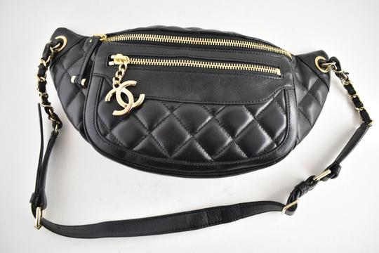 Chanel Shoulder Crossbody Classic Minaudiere Box black Messenger Bag Image 4