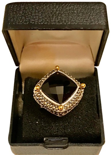 Preload https://img-static.tradesy.com/item/26283578/black-and-silver-faceted-agate-with-marcasite-gemstones-ring-0-1-540-540.jpg