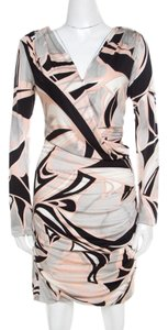 Multicolor Maxi Dress by Emilio Pucci Silk Longsleeve Jersey Draped