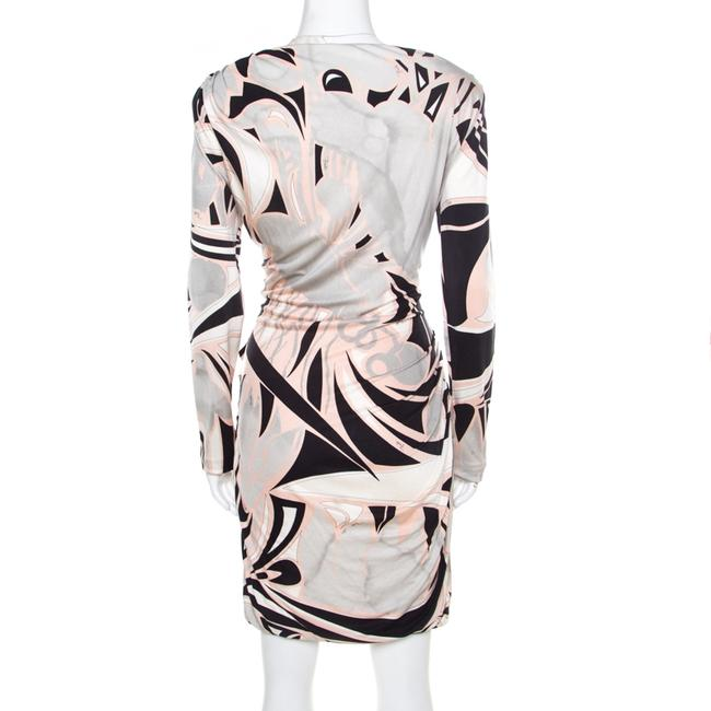 Multicolor Maxi Dress by Emilio Pucci Silk Longsleeve Jersey Draped Image 1