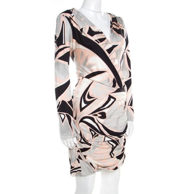 Multicolor Maxi Dress by Emilio Pucci Silk Longsleeve Jersey Draped Image 2