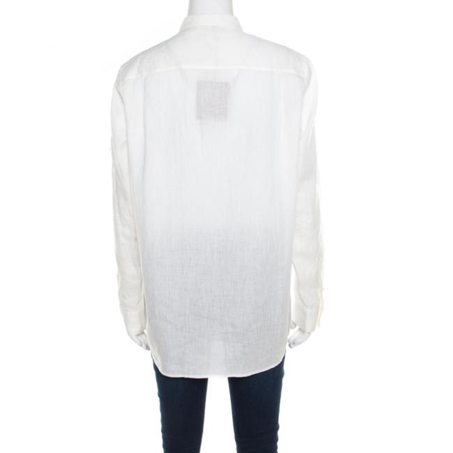 Loro Piana Linen Longsleeve Top Cream Image 1