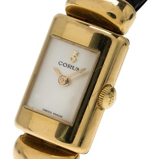Corum Mother of Pearl 18K Yellow Gold Classic Women's Wristwatch 16MM Image 1