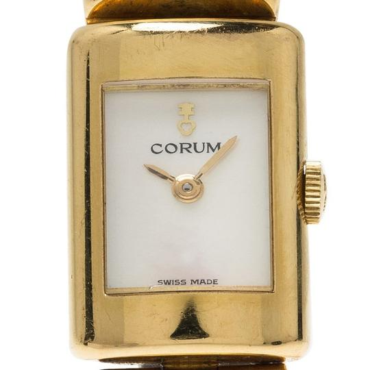 Corum Mother of Pearl 18K Yellow Gold Classic Women's Wristwatch 16MM Image 2