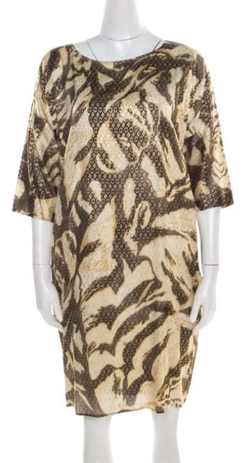 Preload https://img-static.tradesy.com/item/26283603/emilio-pucci-brown-and-beige-foil-printed-silk-long-sleeve-casual-maxi-dress-size-6-s-0-1-650-650.jpg