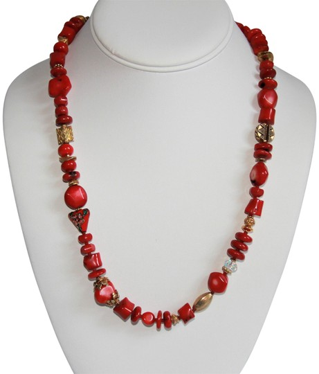 Preload https://img-static.tradesy.com/item/26283616/rare-unique-vintage-deep-red-coral-sterling-silver-and-gold-necklace-0-1-540-540.jpg