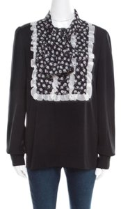 Dolce&Gabbana Silk Monochrome Top Black