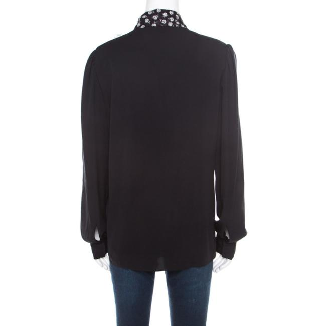 Dolce&Gabbana Silk Monochrome Top Black Image 1