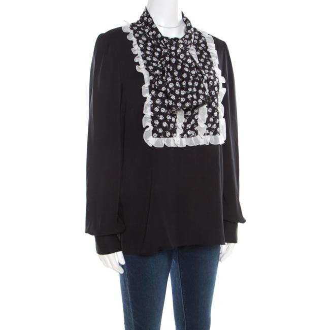 Dolce&Gabbana Silk Monochrome Top Black Image 2
