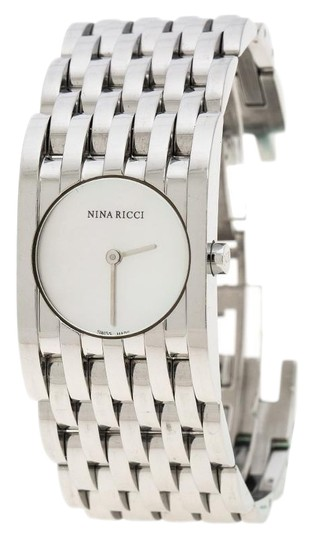 Preload https://img-static.tradesy.com/item/26283642/nina-ricci-silver-white-mother-of-pearl-stainless-steel-n000113-women-s-wristwatch-25-mm-watch-0-1-540-540.jpg