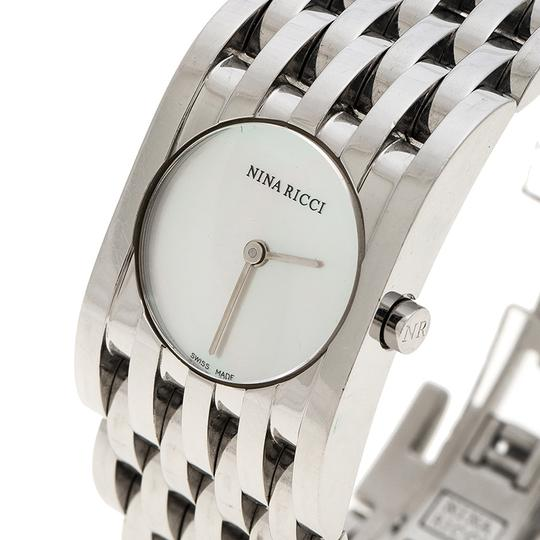 Nina Ricci White Mother of Pearl Stainless Steel N000113 Women's Wristwatch 25 mm Image 1