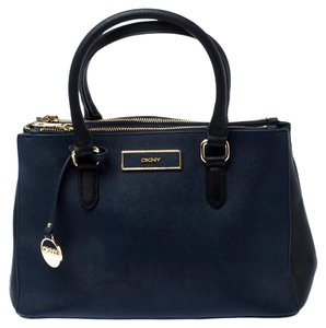 DKNY Leather Fabric Tote in Blue