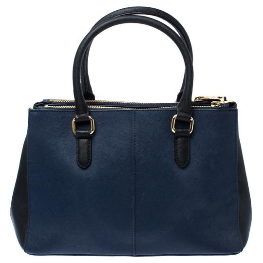 DKNY Leather Fabric Tote in Blue Image 1