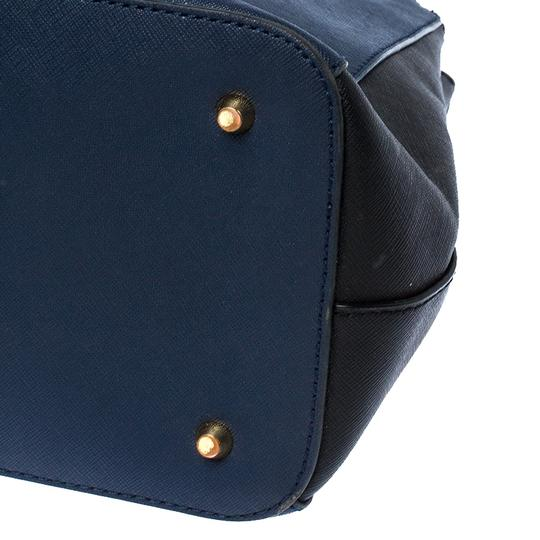 DKNY Leather Fabric Tote in Blue Image 5