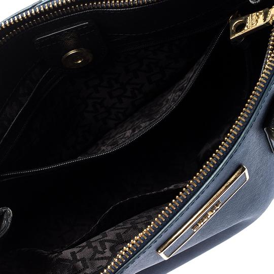 DKNY Leather Fabric Tote in Blue Image 6