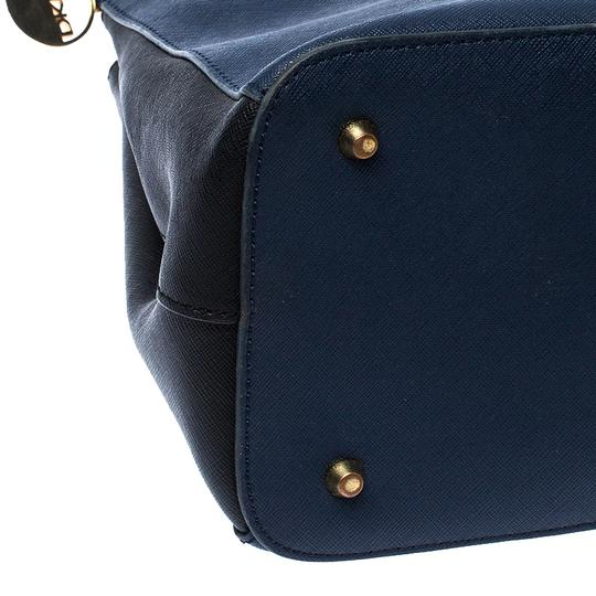 DKNY Leather Fabric Tote in Blue Image 7