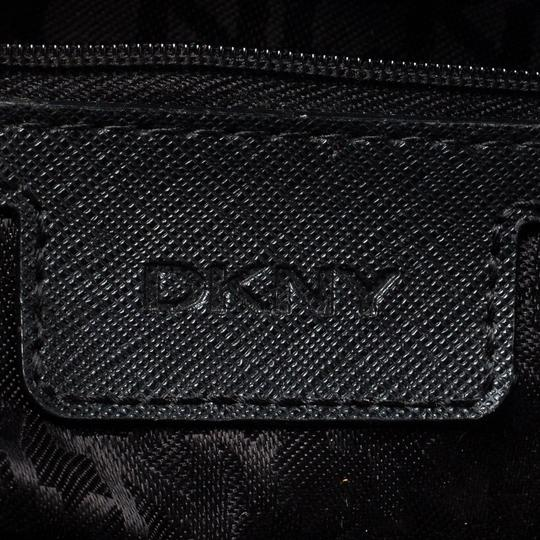 DKNY Leather Fabric Tote in Blue Image 8