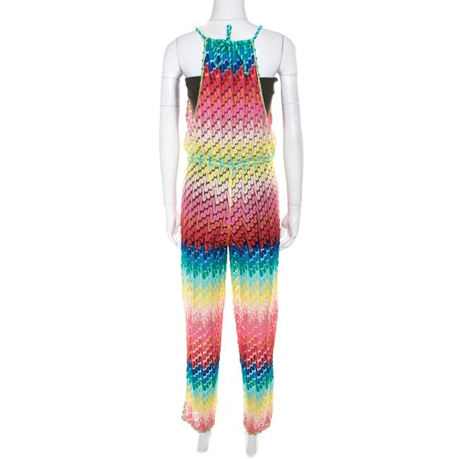 M Missoni Missoni Mare Rainbow Perforated Knit Beach Cover Up Jumpsuit S Image 1