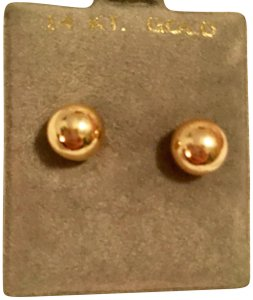 Boutique 14k Gold Solid Ball Stud Earrings