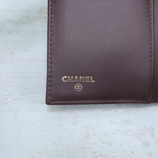 Chanel Chanel Black Caviar Quilted Trifold Wallet Image 10