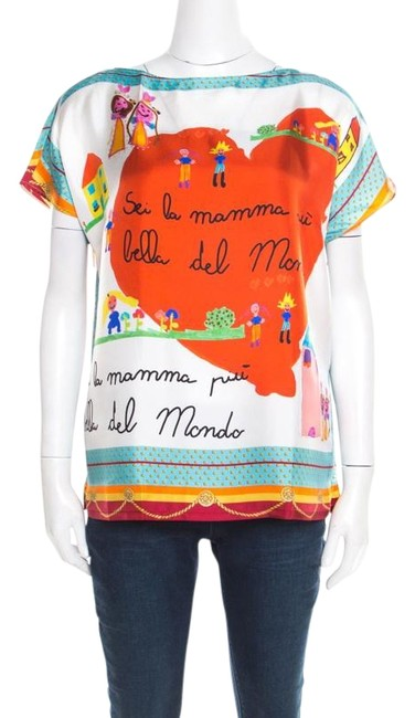 Preload https://img-static.tradesy.com/item/26283712/dolce-and-gabbana-multicolor-dolce-and-gabbana-children-s-drawing-printed-silk-m-blouse-size-10-m-0-1-650-650.jpg