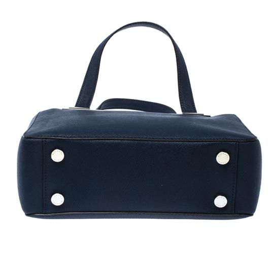 MICHAEL Michael Kors Leather Fabric Tote in Navy Blue Image 3