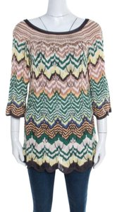 Missoni Perforated Knit Scalloped Top Multicolor