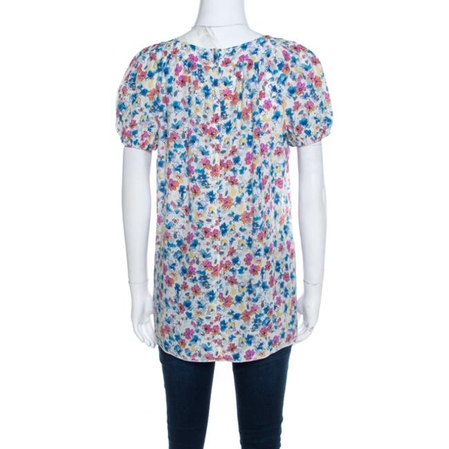 Dolce&Gabbana Floral Sleeve Silk Top White Image 1
